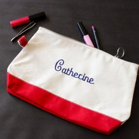 Monogrammed Canvas Makeup Bag.....FREE SHIPPING