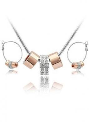 GRADUATION GIFT......Triple Charm Luck Necklace and Earring Set......FREE SHIPPING