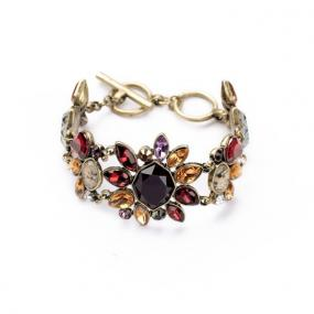 Floral Gemstone Toggle Bracelet......FREE SHIPPING