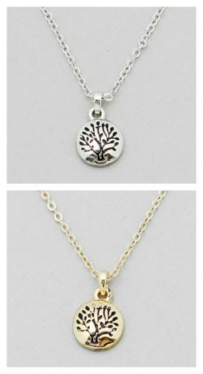 Engraved Tree of Life Pendent Necklace FREE SHIPPING