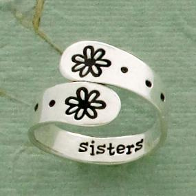 Sterling Silver Sisters Adjustable Ring
