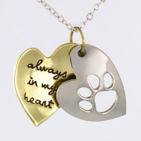 Always in My Heart Pet Necklace......FREE SHIPPING