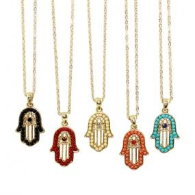 Lucky Hamsa Pendant Necklace
