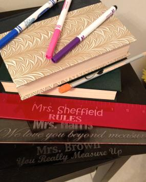 Personalized Teacher Appreciation Acrylic Rulers