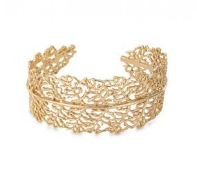 Graceful Filigree Leaf Cuff.....FREE SHIPPING