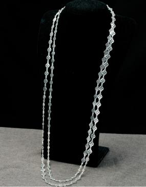 Set of 2 Silver Chain Layering Necklace....FREE SHIPPING