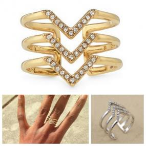 Pave Spear Ring....Ships Free