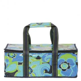 Blue/Green Flower Insulated Casserole.....FREE SHIPPING
