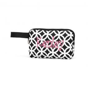 Personalized Black Geometric Accessory Bag....SHIPS FREE