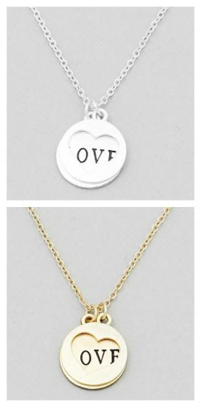 Open Heart Love Stacked Love Necklace