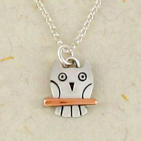 Sterling Silver Wise Owl Pendant FREE SHIPPING