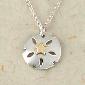 Sand Dollar Pendant Necklace- Free Shipping