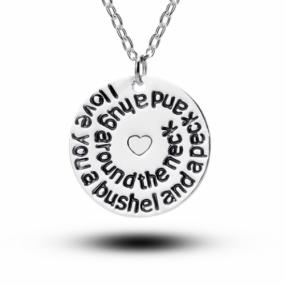 Love You a Bushel and a Peck Necklace - Free Shipping
