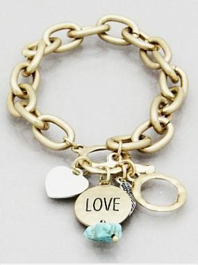 Love Messaged Charm Bracelet - Free Shipping