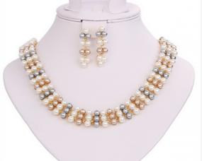Multicolor Pearl Strand Set - Free Shipping