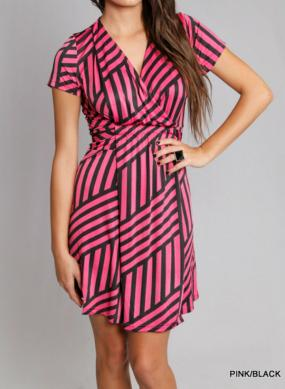 Criss Cross Patterned Dress - Free Shipping