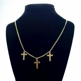 Gold Plated Cross Necklace - FREE SHIPPING