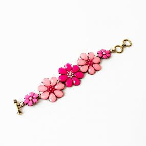 Sparkle Flower Statement Bracelet - Free Shipping