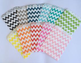 Chevron and Polka-Dot Party Bags
