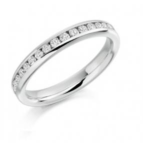 CZ Channel Set Eternity Band - Free Shipping