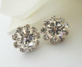 Austrian Crystal Starburst Earrings - Free Shipping
