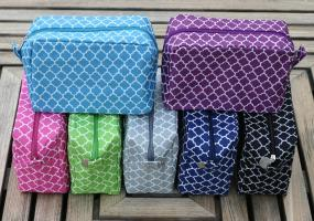 Monogrammed Quatrafoil Style Cosmetic Bag - Free Shipping