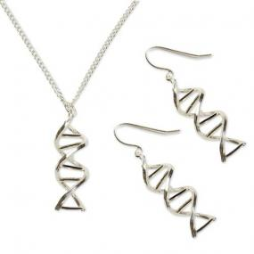 DNA Double Helix Earrings Necklace Set - Free Shipping