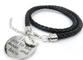 Love You To The Moon And Back Leather Wrap Bracelet - Free Shipping