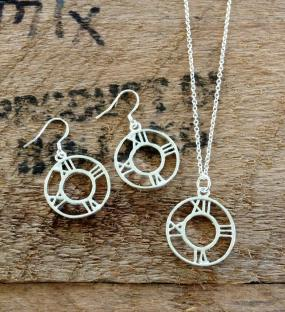 Atlas Pendant and Earring Set - Free Shipping