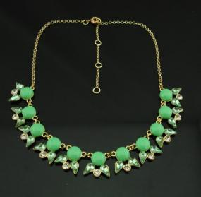 Cobochon Crystal Statement Necklace - Free shipping