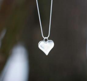 Silver Heart Necklace - FREE SHIPPING