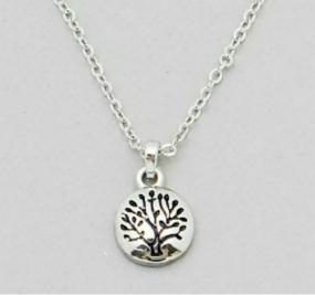 Engraved Tree of Life Pendent Necklace - Free Shipping