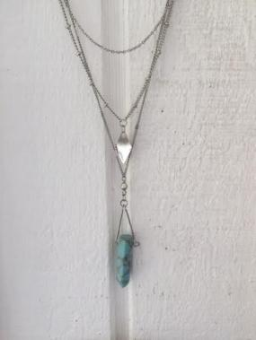 Turquoise Bead Layered Necklace