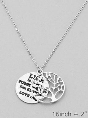 Tree of Life Message Necklace - FREE SHIPPING