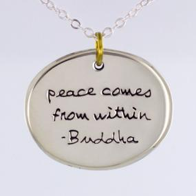 Peace Comes From Within Pendant