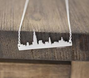 New York Cityline Necklace in Silver