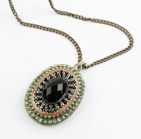 Oval Rhinestone Layering Necklace - Free Shipping
