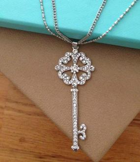 Crystal Key Layering Necklace - Free Shipping