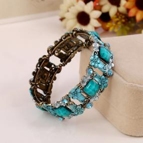 Vintage Style Flowers Cuff Bracelet - Free Shipping
