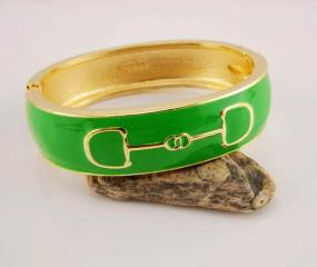 Gold Cup Horse Bit Bangle - Free Shipping