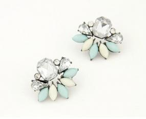 Diamond Starburst Earrings in 2 Colors - Free Shipping