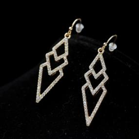 Pave Spear Earrings - Free Shipping