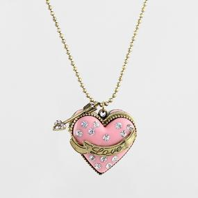 Heart Locket Necklace - Free Shipping