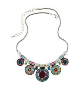 Multicolored Statement Necklace - Free Shipping
