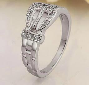 Platinum Buckle Ring - Free Shipping