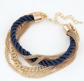 Gold Tone Multi-Chain Bracelet - Free Shipping