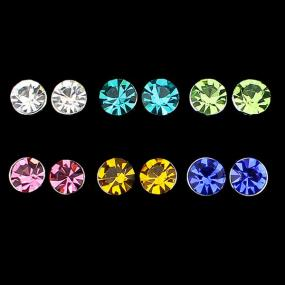 Crystal Stud Earrings - Free Shipping