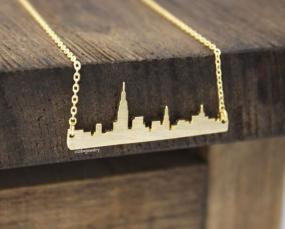 New York Cityline Necklace in Silver or Gold