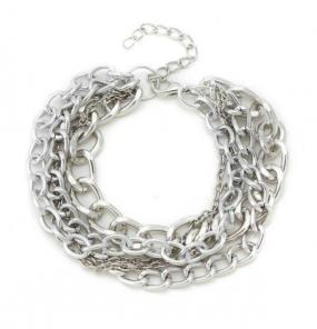 Layered Chain Bracelet in Silver or Gold - Free Shipping