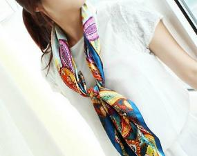 Paisley Blue Scarf - Free Shipping